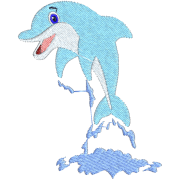 Matrix Embroidery Dolphin