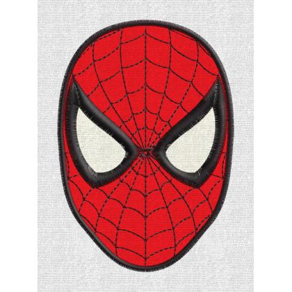 Matriz de Bordado Aplique Mascara Spider Man