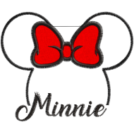 Matriz de Bordado Aplique Minnie