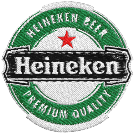 Matriz de Bordado Marca de Cerveja Heineke