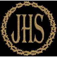 Matriz de Bordado JHS com Coroa de Espinho
