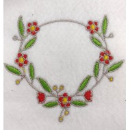 Matriz de Bordado Moldura Com Flores  6