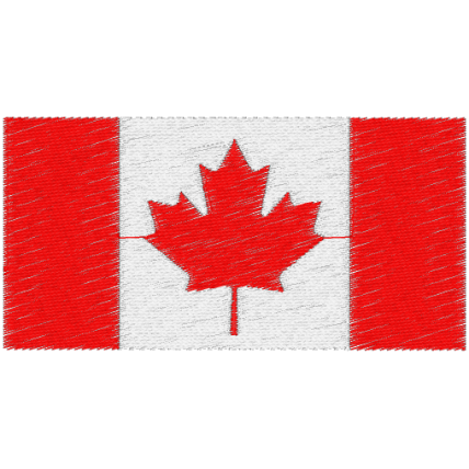 Matriz de Bordado Bandeira do Canada