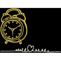 Matriz de Bordado Relógio