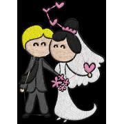 Matriz de Bordado Casamento Cartoon 03