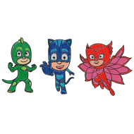 Matriz de Bordado Conjunto PJ Masks