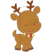 Embroidery Christmas Reindeer mother