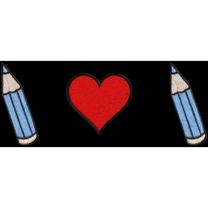 Matriz de Bordado Lápis Coração Lápis