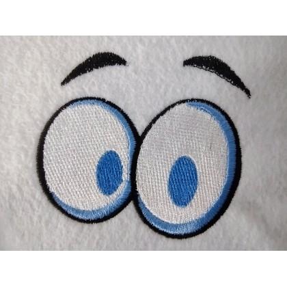 Matriz de Bordado Olhos Cartoon