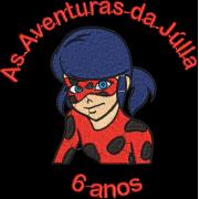 Matriz de Bordado As aventura da Júlia 6 anos