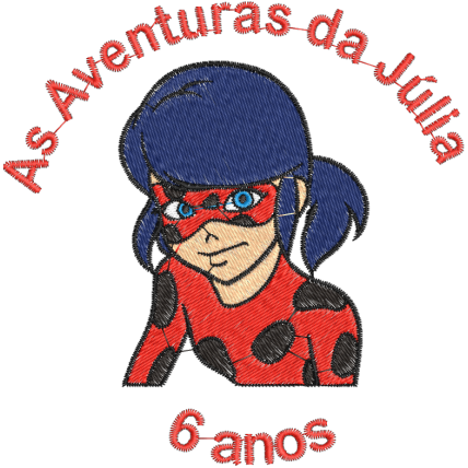 Matriz de Bordado As aventura da Júlia 6 anos
