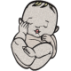 Matriz de Bordado Bebê 8
