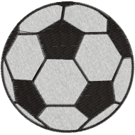 Matriz de Bordado Bola de Futebol
