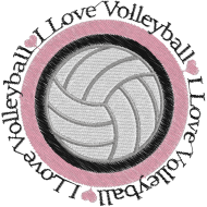 Matriz de Bordado I Love Volleyball 1