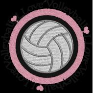 Matriz de Bordado I Love Volleyball 1