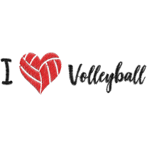 Matriz de Bordado I Love Volleyball 2