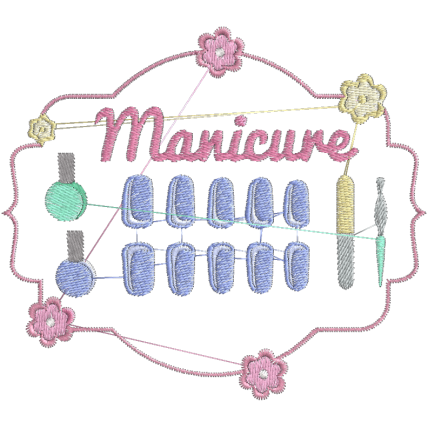 Matriz de Bordado Logotipo Manicure 2