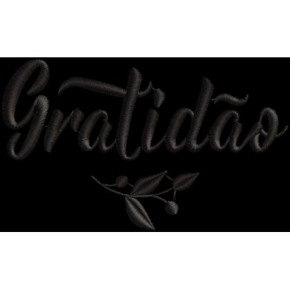 Matriz de Bordado Gratidão 02