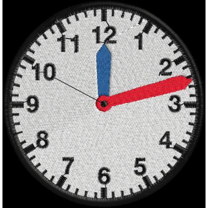 Matriz de Bordado Relógio 2