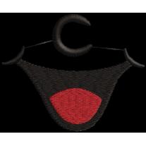 Matriz de Bordado para Mascara de proteção Boquinha do Cebolinha