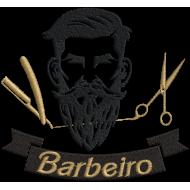 Matriz de Bordado Logotipo Barbeiro