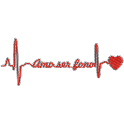 Matriz de Bordado Batimentos Cardíaco Amo Ser Fono