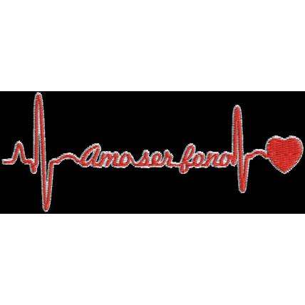 Matriz de Bordado Batimento Cardíaco Amo Ser Fono