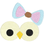 Matrix Embroidery Owl Smilie