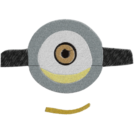Matriz de Bordado Carinha do Minions 1
