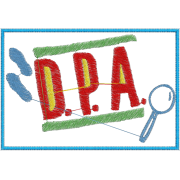 Matriz de Bordado Detetive do Prédio Azul D P A