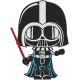 Matriz de Bordado Darth Vader Satr Wars