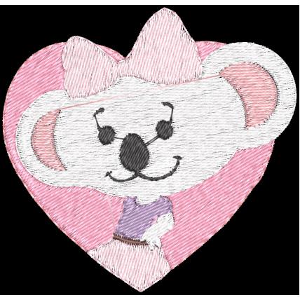 Matriz de Bordado LIlica Com Coração