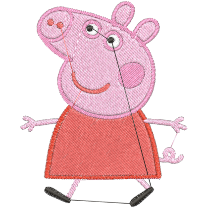 Matriz de Bordado Peppa Big