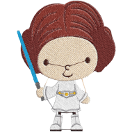 Matriz de Bordado Princesa Leia Star Wars