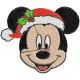 Matriz de Bordado Mickey Natal