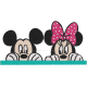 Matriz de Bordado Mickey e Minnie 1
