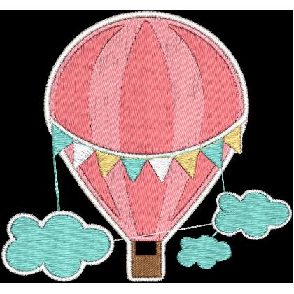 Matriz de Bordado Balão Azul 2
