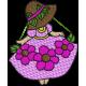 Matriz de Bordado Boneca Com Flor 3