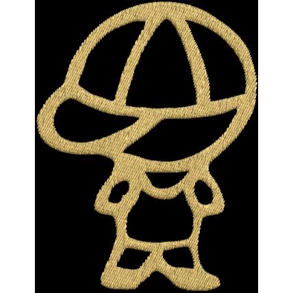 Matriz de Bordado Bonequinho