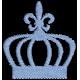 Matriz de Bordado Coroa Azul  01