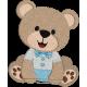 Matriz de Bordado Urso coroa e 2