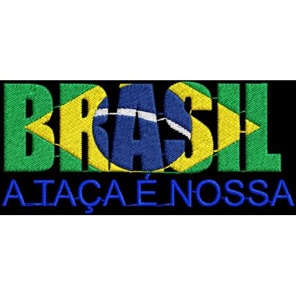 Matriz de Bordado Brasil a Taça e Nossa