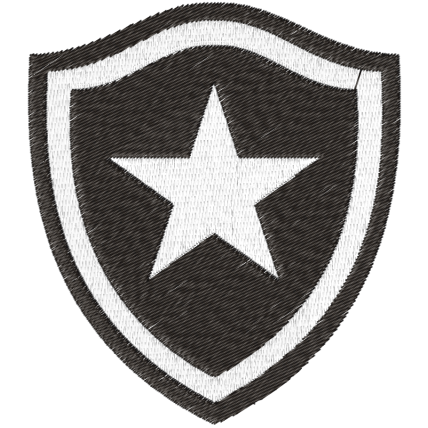 Matriz de Bordado Escudo Botafogo de Futebol e Regatas