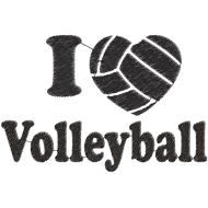 Matriz de Bordado I Love Volleyball