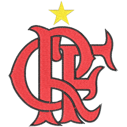 Matriz de Bordado Letras Clube de Regatas do Flamengo
