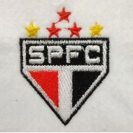 Matriz de Bordado Escudo São Paulo Futebol Clube com Estrelas
