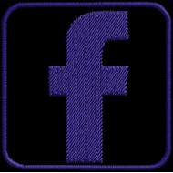 Matriz de Bordado Facebook Icone Vazado [Download Grátis]