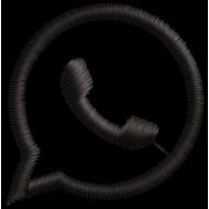 Matriz de Bordado WhatsApp Icone Vazado [Download Grátis]